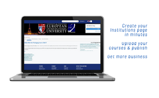 Get your Institution a White label page with integrated LMS